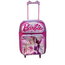 Mochila Escolar De Rodinhas Personagem Infantil Barbie