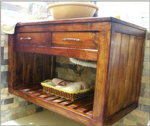 Mueble De Baño De Madera De Pino Clasico M1  Bs 280,00 en Mercado