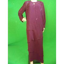 Vestido Gala Dama Talla L (12 En Usa) Color Morado Bodas Xv