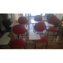 5 Cadeiras (carteiras) Universitárias Vermelhas. Promoção!!!
