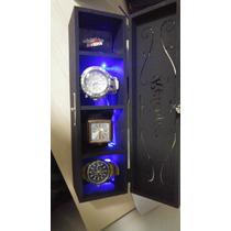 Porta Relógio Com Led Varias Cores
