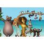 Painel Decorativo Festa Infantil Filme Madagascar (mod8)