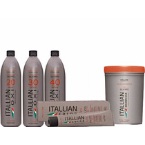 Kit Itallian Oxigenada 20 30 40 + 10 Tintas + Pó Golden Silk