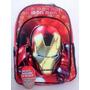 Mochila Iron Man Espalda 16 P Avenger Con Máscara! !!!