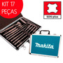 Kit 17 Pc Ponteira Talhadeira Broca Sds-plus + Maleta Makita