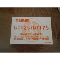 Yamaha Dt 125-175 1983 Manual Del Usuario Japon Impecable
