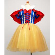 Vestido De Festa Princesa Branca De Neve. Pronta Entrega