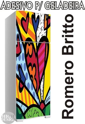 Aparador Em Mdf Com Gaveta ~ Kit Adesivo Envelopamento Skin Geladeira Romero Britt