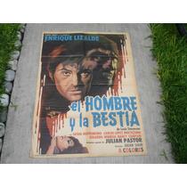Enrique Lizalde , El Hombre Y La Bestia , Poster De Cine