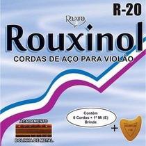 Jogo De Corda De Violão Aço Com Bolinha Corda R20 Rouxinol