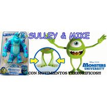 Monster University Muñecos De Mike & Sulley Con Movimiento