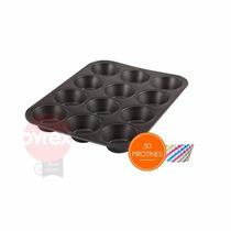 Molde P/ 12 Muffin Cupcakes + 50 Pirotines - Teflonado Pyrex