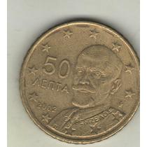 Grecia Moneda De 50 Euro Cents Año 2002 Km 186 - Exc.