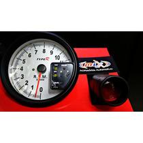 Conta Giro Rpm Type R Com Shift Light Fundo Branco