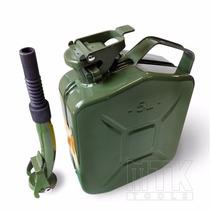 Galao Combustivel Gasolina 5l Metal C/ Bico P/ Jeep, Willys