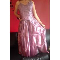 Vestido De 15 Años Rosado Tornasol Largo