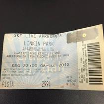 Ingresso Linkin Park Tour 2012 - P/ Colecionadores