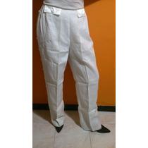 Ropa De Dama - Pantalon Blanco -tela Importada
