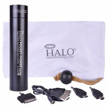 Power Bank Hg Global Recargable 2200 Mah Halo Negro Con Usb