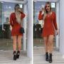 Vestido Tricot/croche Tendencia Outono Blogueira Moda Linda