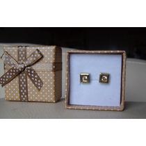 Aros Plata Y Oro Con Cubic Zirconia
