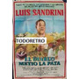 Afiche Cine El Diablo Metio La Pata Con Luis Sandrini 1980