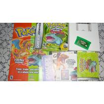Pokemon Leaf Green Completo Original Americano
