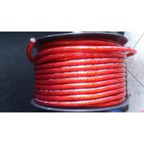 Rollo/20mts Cable Carro Auto Positivo Poder #4 Sonido Planta