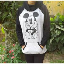 Blusa Moletom Moleton Com Capuz Mickey Canguru Melhor Preço