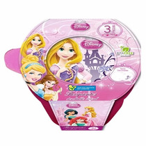 Recipiente Redondo Princesas 250 Ml 3 Pzas Disney 82051 Stor