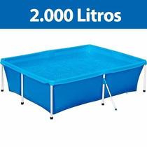 Piscina Infantil 2.000 Litros Mor Lona Pvc 2,11x1,64x0,58m