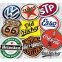 Adesivos Stickers Bebidas Carros Motos Marcas Tamanho Médio