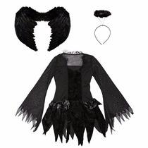 Disfraz Halloween Angel Cospaly For Girls Black Fallen Angel