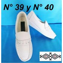 Zapatos De Enfermera Blanco Fabricados En Cuero Colombiano.