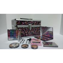 Maleta De Maquiagem - Profissional Completa + Kit 12 Lapis