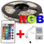 Kit 15 Metros Fita Led 5050 Rgb+1 Fonte 20a +2 Amplificador