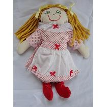 Bonecas De Tecido Com Vestido E Sapatinhos 35cm
