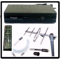 Kit Completo Tv Digital Tda Antena Decodificador Envio