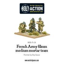 Miniaturas De Equipo Mortero Francés De Guerra Temprana 81mm