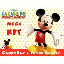 Kit Imprimible Mickey Mouse M E G A + Candy Bar Cumple