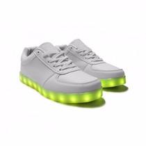 Zapatos Tenis Led Luminosos Fiesta Colores Unisex Deportivos