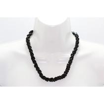 Collar De Piedra Corto Obsidiana Ccpn94