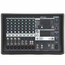 Mesa De Som Amplificada Yamaha Emx312sc 12 Canais C/ Efeitos