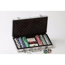 Poker Valija X 300 Numeradas Con Holograma, Mazos Y Dados