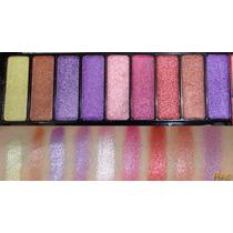 Paleta De Sombras 3d Jasmyne - 9 Cores + 2 Blushs - Pincel