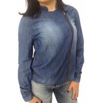 Jaqueta Manga Longa Casaco Jeans Hering Sv Modas