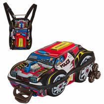 Mochila Escolar Mochilete 3d Carro Thunderbolt Police Lanche