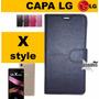 Pelicula Vidro + Capa Flip Carteira Cel Lg X Style K200dsf