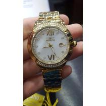 Relógio Invicta Angel Model 20313 Douro Banhado Ouro Origina