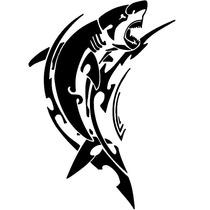 Adesivo Carro Tubarão Tribal Tuning Rebaixado